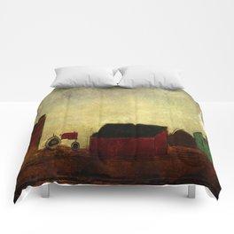 Americana Barnyard with Tractor Comforters