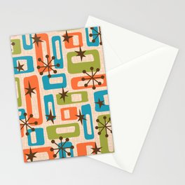 Colorful Retro Mid Century Modern Solar Squares 621 Stationery Cards