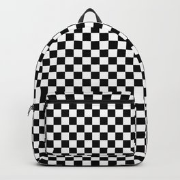 Black and White Check board Pattern Backpack