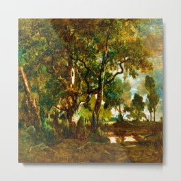 Theodore Rousseau Forest of Fontainebleau Metal Print