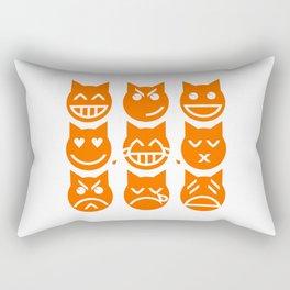 The 9 Lives of the Emoji Cat Rectangular Pillow