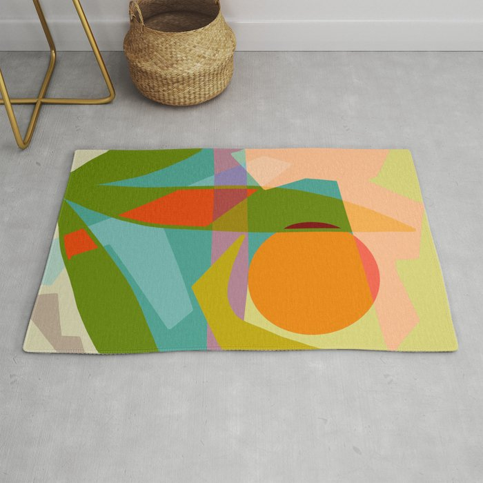 Shapes and Layers no.6 - Tropical Sunset Rug