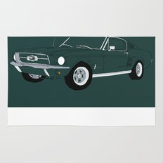 1968 Ford Mustang GT Rug