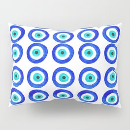 Evil Eye Amulet Talisman - on white Pillow Sham