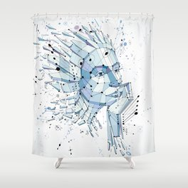 face Shower Curtain