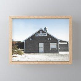 Cape Cod Beach Snack Bar Off Season Framed Mini Art Print