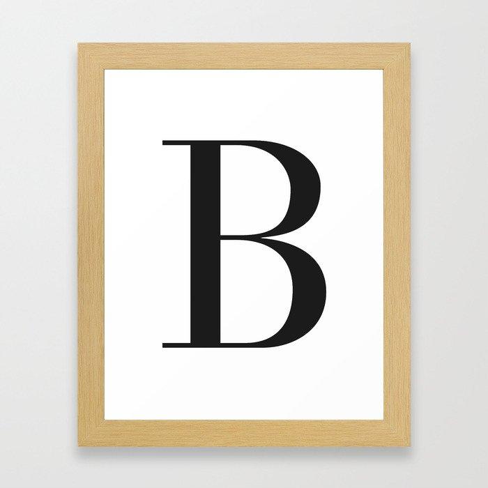'B' Initial Framed Art Print