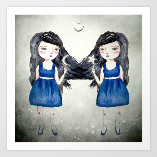 Night Sisters Art Print