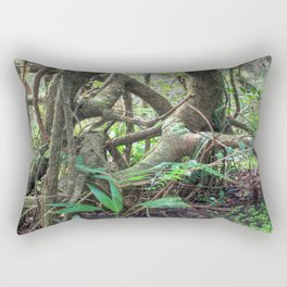 Dancing trees in the cloud forest  -  Tradewinds trail El Yunque rainforest PR Rectangular Pillow