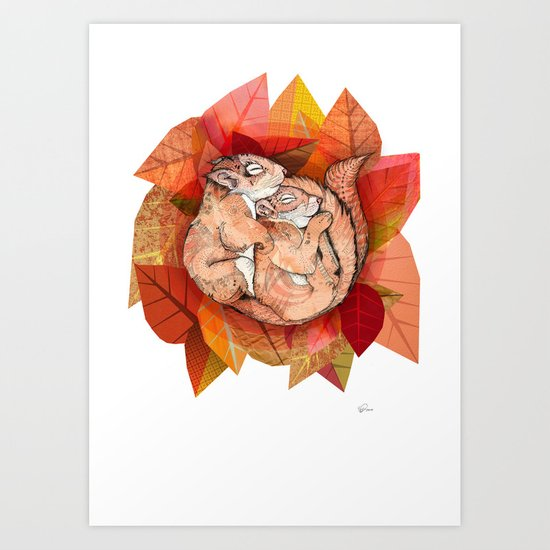 Squirrel Spoon Art Print