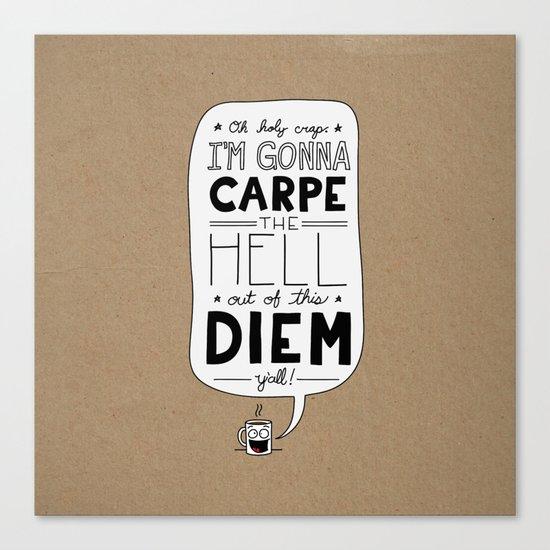 Coffee Diem Canvas Print