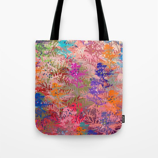 Floral abstract(52). Tote Bag