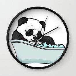 Bathtub panda Wall Clock
