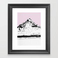 a mountain Framed Art Print