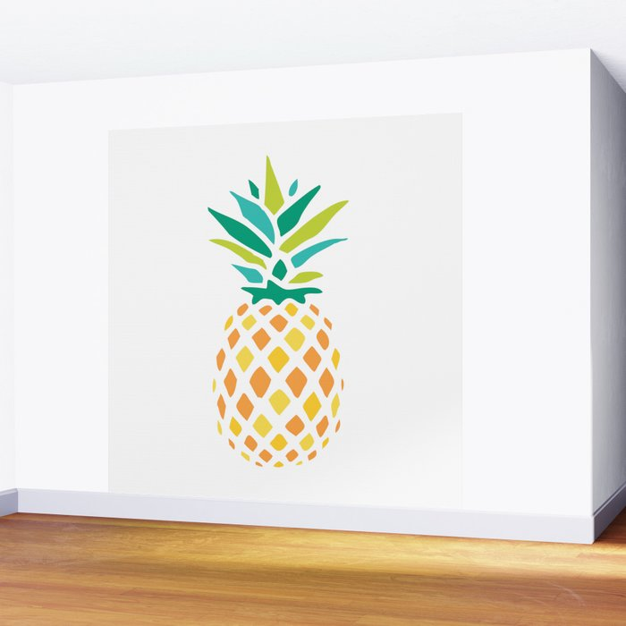 Summer Pineapple Wall Mural