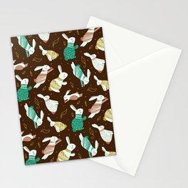 Vintage Eater Bunny Pattern Rabbit Gift Stationery Cards