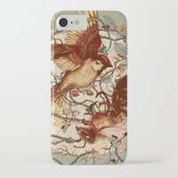 birds iPhone & iPod Cases featuring Honey & Sorrow (grey) by Teagan White