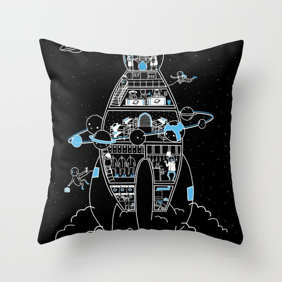 Interstellar Travels Throw Pillow