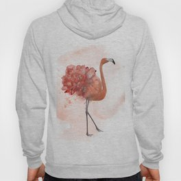 flamingo with flowers , watercolor painting Hoody
