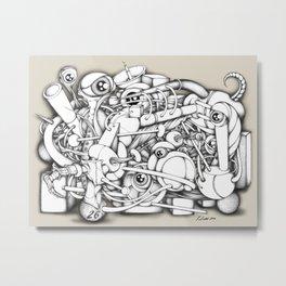 A Tangled Mess V1 Metal Print