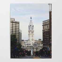 Philadelphia City Hall from the Parkway Poster