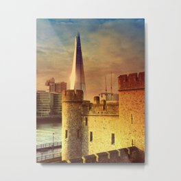 The Tower of London & The Shard Metal Print