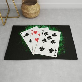Blackjack Card Game, 21 Count, Three Times Seven Combination Rug