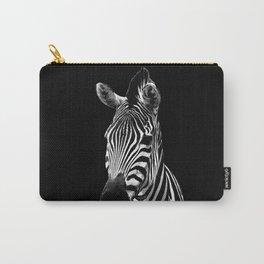 Zebra Black Carry-All Pouch
