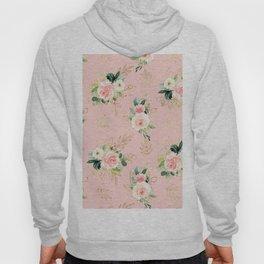 Peachy Floral Garden Hoody