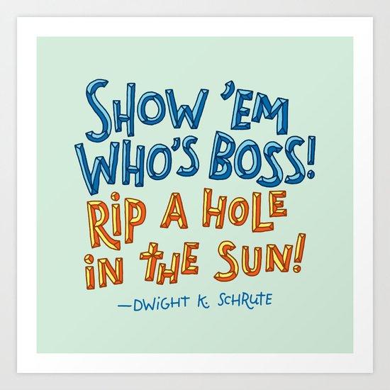 Dwight K. Schrute Art Print