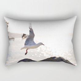 Seagull takes flight over Dunedin's MacAndrew Bay Rectangular Pillow