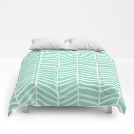 Herringbone – Mint & White Palette Comforters