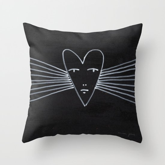 radiant heart Throw Pillow
