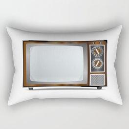 Old Television Set Rectangular Pillow