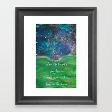 Look At The Stars Framed Art Print