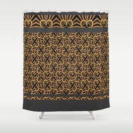 ArtDéco gold Shower Curtain