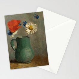"Odilon Redon ""Pichet au Coquelicot et a la Marguerite"" Stationery Cards"