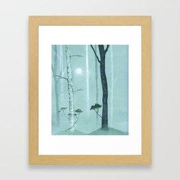 Blue Forest Framed Art Print