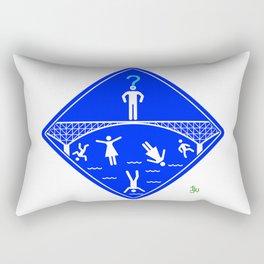 Jump Off Bridge Boy Invert Rectangular Pillow