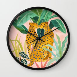 Cheetah Crush Wall Clock
