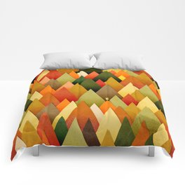 071 – deep into the autumn forest texture II Comforters