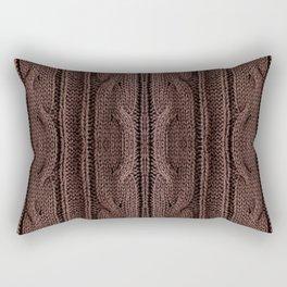Brown braid jersey cloth texture abstract Rectangular Pillow