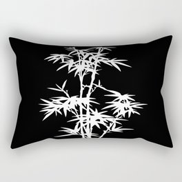 Black and White Bamboo Silhouette Rectangular Pillow
