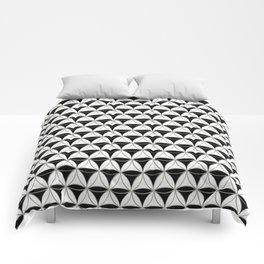 Cone Pattern Black-White Comforters