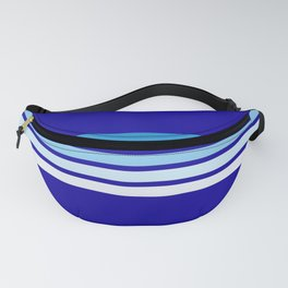 Retro Stripes on Blue Fanny Pack