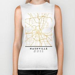 NASHVILLE TENNESSEE CITY STREET MAP ART Biker Tank