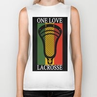 lacrosse Biker Tanks featuring Lacrosse OneLove by YouGotThat.com