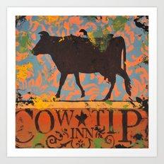 Cow Tip Inn Art Print