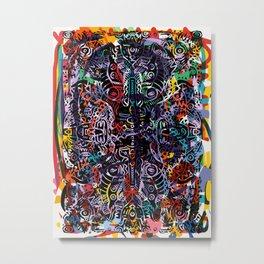 Graffiti Mandala Urban Street Art Maya by Emmanuel Signorino Metal Print