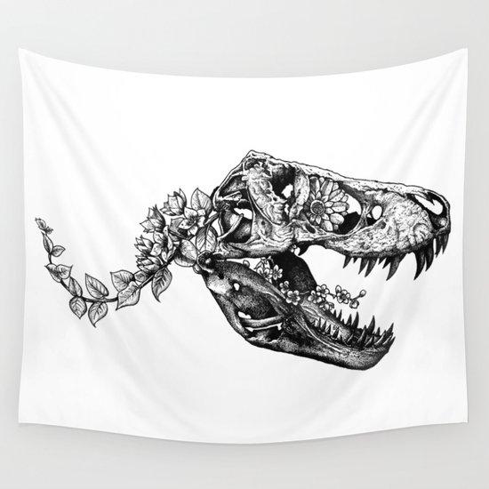 Jurassic Bloom - The Rex.  Wall Tapestry